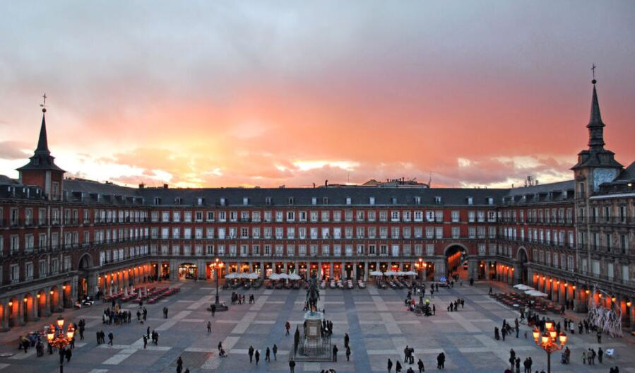 Plaza Mayor of Madrid, in the Sol district