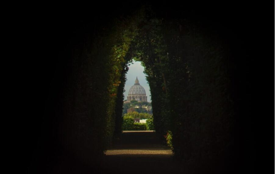 This is the view of St. Peter's Basilica from the lock