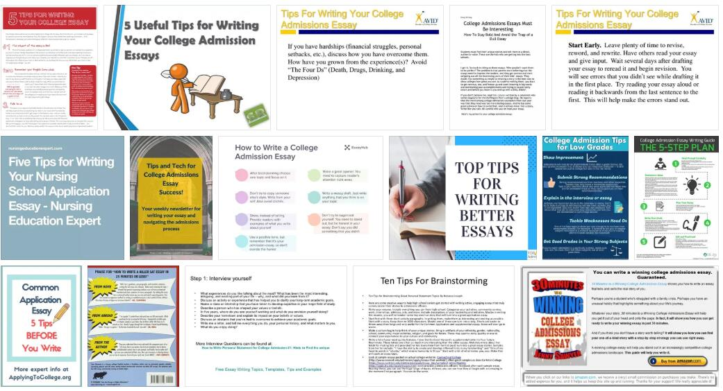 5 Tips for Writing Your Admission Essay