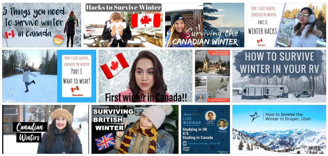 How to Survive the Winter in the USA, UK or Canada