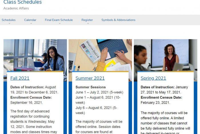Class Schedules - San Jose State University