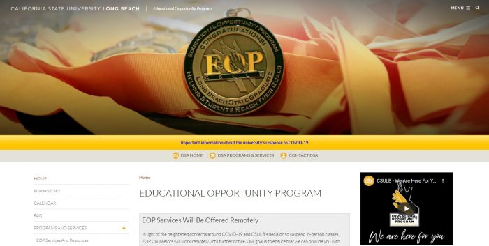 Educational Opportunity Program - Cal State Long Beach