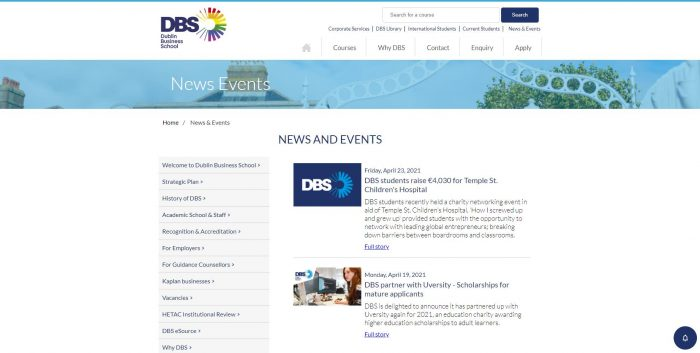 News and Events at DBS - Dublin Business School