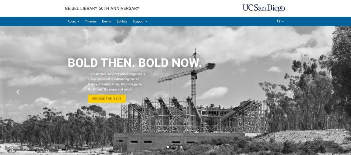 UCSD Geisel Library 50th Anniversary